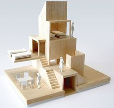 architectural model | basswood | australia house