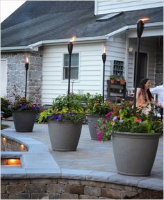 Large Flower Pots With Torches