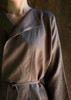 Sewn linen jacket -