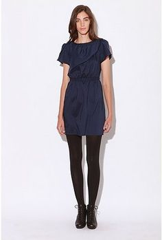 I know, Urban Outfitters, so cliche hip, but I'm sorry, I'm diggin' the tights and dress. I'm just looking for work-appropriate dresses is all. With the non-money that I do not have.