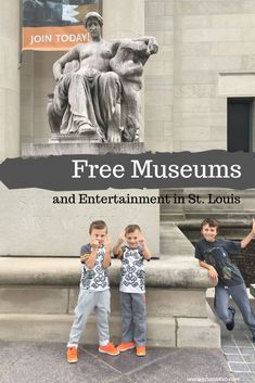 Forest Park in St. Louis, MO is home to some of the best free museums. Learn about our visits to the St. Louis Art Museum and the St. Travel With Kids, Family Travel, Free Museums, City Museum, Forest Park, Free Activities, All Family, Egyptian Art, History Museum