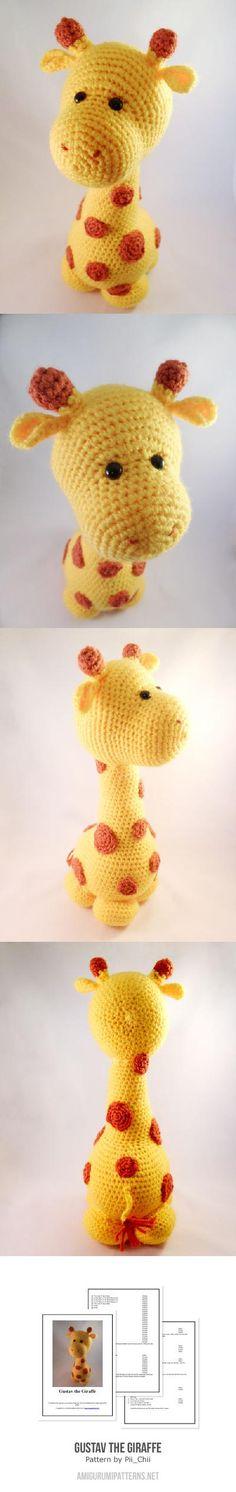 Found at Amigurumipatterns.net-Gustav the Giraffe