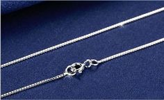 Fashion 925 Solid Silver 0.7mm Chain Necklace 18 inches For Women Hot Sale #Unbranded #Chain