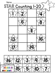 ORDERING NUMBERS - Kindergarten Math Freebies - complete common core aligned and Texas TEKS aligned numbers and counting math unit for kindergarten - counting and cardinality 1:1 correspondence - counting numbers 1-20 math assessments and data binder - counting and cardinality #kindergartenmath #numbersandcounting #kindergarten Counting Worksheets For Kindergarten, Free Printable Math Worksheets, Numbers Kindergarten, Numbers Preschool, Preschool Math, Freebies Printable, Printable Numbers, Kids Math, Free Printable Kindergarten Worksheets