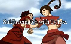 And then Ty Lee joins the Kyoshi Warriors... awks.