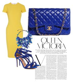 BRIGHT by daijah-escobar on Polyvore featuring polyvore, fashion, style, Victoria Beckham, Ted Baker, Chanel and Anabela Chan