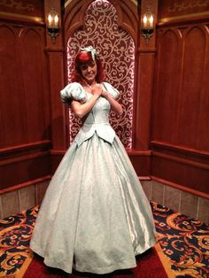 Ariel with legs & cold weather gear at Disneyland. Pic by @WDWMickeyHunter