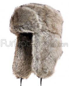 179a45390d61 This all Faux Fur gray Russian hat exterior is designed to keep you warm in  the