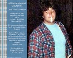 Chris Winkler Missing Feb 1987 From Burlington, Wisconsin Age 19 Disappeared under suspicious circumstances. This case really needs a tip. Burlington Wisconsin, Missing Persons, Age, Tips, Counseling