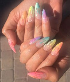 If you like pastel nails and nail designs, if you choose to have beautiful hands, this is your place. Here you can see the best designs and pastel nails to get ideas. In this article, you will see spectacular nail… Continue Reading → Acrylic Nails Coffin Short, Summer Acrylic Nails, Best Acrylic Nails, Coffin Nails, Summer Nails, Pastel Nails, Spring Nails, Pointy Nails, Acrylic Nails Stiletto