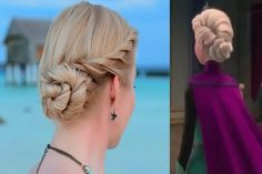 Hair tutorials for girls you can actually do: The Elsa coronation hairstyle. Easier than you think!