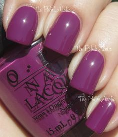 pampaloma purple OPI I'm putting this colour on right now!!!