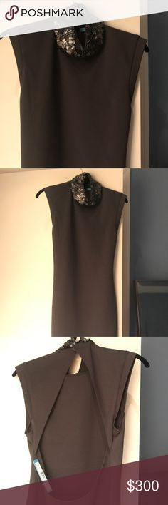 alice + olivia dress alice + olivia elegant dress, never been worn with tags still on! beautiful and intricate design around the collar that hugs the neck Alice + Olivia Dresses Midi