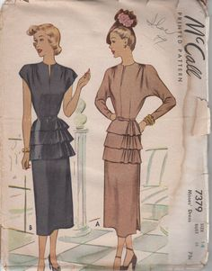 Hey, I found this really awesome Etsy listing at https://www.etsy.com/listing/181164441/rare-1948-misses-evening-dress-mccall