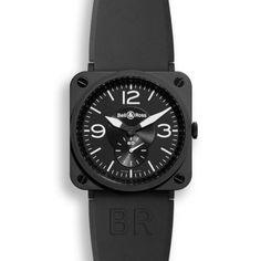 http://www.horloger-paris.com/fr/83-bell-ross-bell-and-ross-br-s  Bell et Ross BR S Quartz Black mat / Noir Mat ...