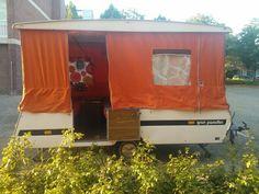 opgeknapte Gran Paradiso vouwwagen! caravan vintage retro trailer diy