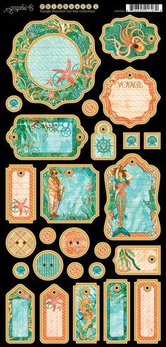Voyage Beneath the Sea Journaling Chipboard #sneakpeeks #graphic45