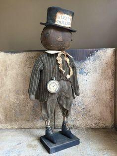 NATHANIAL, Black Pumpkin Boy | Primitive Handmades Mercantile