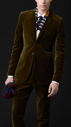 Burberry Skinny Fit Velvet Jacket. Rich, opulent colors and material