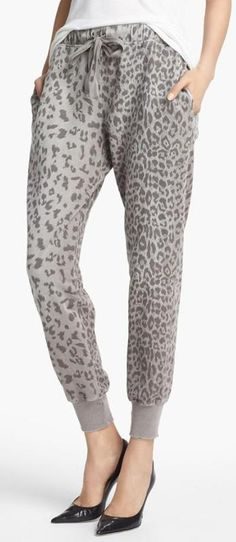Current/Elliott Animal Print Sweatpants