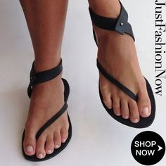 6c1bd514461 Black Sandals Flip Flops Ankle Wrap Shoes Buy 2 Get 3rd 30% OFF!