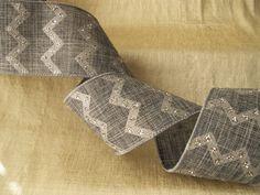 3 YARDS,Grey & Silver Ribbon,Chevron Ribbon,Sequin Ribbon,BASKETS,BOWS,WREATHS