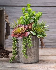 succulent garden care Obsession Artificial Foliage Planter String of Pearls amp; JadeArtificial Succulent ArrangementString of Pearls amp; Types Of Succulents, Artificial Succulents, Succulents In Containers, Cacti And Succulents, Container Plants, Planting Succulents, Container Gardening, Planting Flowers, Cactus Plants