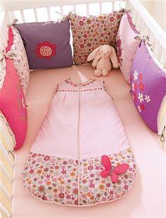 Tour de lit bébé modulable collection bio PAPILLON