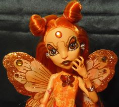 "Monster High OOAK Custom Repaint Scari's Fairies 6 ""Mari Posa"" Butterflies 