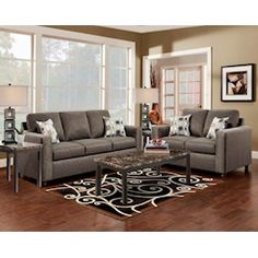 Lacks | Sensations Chocolate 2-Pc Living Room Set