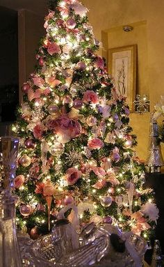 Pink & Crystal decoration tree, Happy Day!