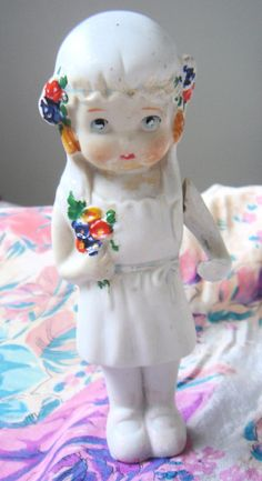 1930's Bisque DollFrozen Charlotte Bride