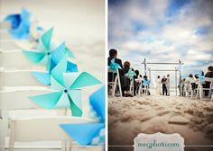 Love the idea of pinwheels lining the aisle and around the venue, but not just to look cute, they have to be able to spin if the breeze permits :)