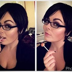 I couldn't resist doing a little makeup test this evening! I thinned and restyled Bayonetta's wig (still not completely happy!) and tried my best with the makeup! Very excited to make this a reality in 2017!! #cosplay #cosplayer #bayonetta #bayonetta2 #bayonettacosplay #bayonetta2cosplay #dutchcosplay #videogame #videogames #videogamecosplay #nintendo #nintendocosplay #platinumgames #makeup #costest #coswip #glasses #ravenstarcosplay