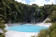 One of the many hot water springs of Rotorua Adventure Holiday, Adventure Travel, Hot Springs, New Zealand, To Go, Places To Visit, Swimming, Island, Explore