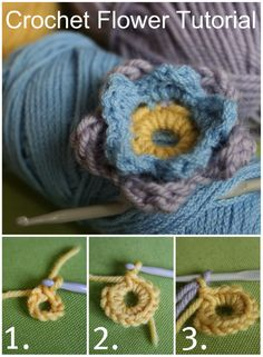 My fingers just know how to do this. Pinning this Crochet Flower tutorial in case I ever need to explain to someone.