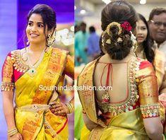 kasu work blouse for pattu sarees photo