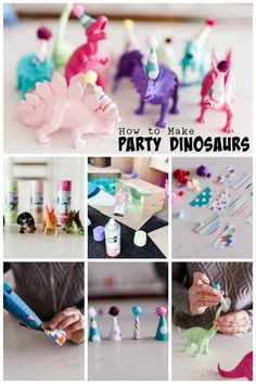 Dinosaur party ideas for girls! It isn't just boys who want dinosaur birthday parties, little girls love dinosaurs too! Create a dino party for her! Fourth Birthday, 4th Birthday Parties, Birthday Party Decorations, Dinosaur Party Decorations, Birthday Ideas, Dinosaur Party Foods, Craft Birthday Party, Elmo Party, Elmo Birthday
