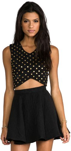 Lovers + Friends REVOLVE Exclusive Blaine Studded Crop Top on shopstyle.com