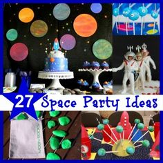 Space Party Inspiration - Everything you could want, including printable invites, DIY astronaut costumes and more!