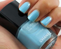 Coco blue nails nail chanel polish pretty nails nail ideas nail designs  nail polish