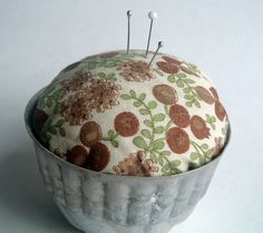 pin cushion from a mini mold