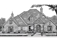 Find your dream european style house plan such as Plan which is a 2659 sq ft, 4 bed, 3 bath home with 3 garage stalls from Monster House Plans. European Style Homes, European House Plans, Ranch House Plans, House Floor Plans, French Country House, French Country Decorating, Home Design Plans, Plan Design, Design Ideas