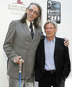 Peter Mayhew and Harrison Ford, at the 2013, 30th Anniversary celebration for 'The Empire Strikes Back'.