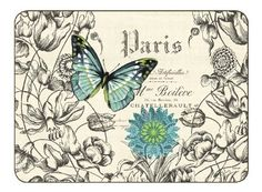 "Butterflies By Jason, Set of 4 Large Placemats by Jason. $44.95. Heat resistant to 225ºF. Hardboard, Cork backed. Gift Boxed. Size: 17"" x 11.5"". Durable, heat sealed surface. ~ Questions? Call silverimpressions.com 866-310-4222."