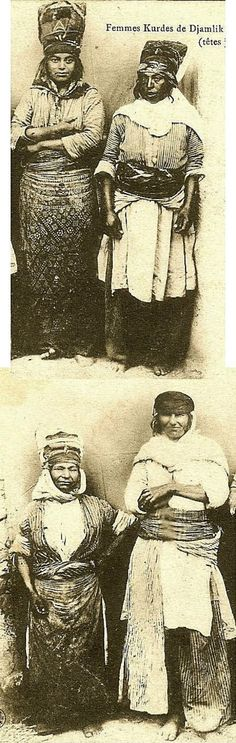 Kurdish women in traditional attire. From Çamlık köyü, a Kızılbaş (Alevi) village in the district of Divriği (southeastern part of the Sivas province). Ca. 1900.