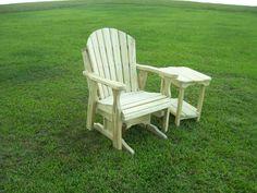 wodden yard glider chair | Treated Wood ADIRONDACK GLIDER CHAIR - Backyard World