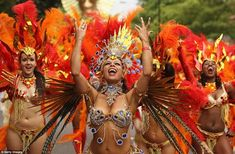 Notting Hill Carnival will take place over August bank holiday weekend on Sunday and Monday. Carnival 2015, Notting Hill Carnival, Rio Carnival, Carnival Costumes, Carnival Festival, August Bank Holiday, Bank Holiday Weekend, Samba, High Waist
