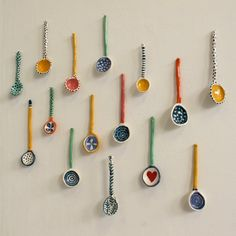 ceramic spoons | Tumblr Ceramic Tile Art, Ceramic Spoons, Ceramic Painting, Pretty Things, Pottery Handbuilding, Hobbies To Try, Pottery Techniques, Pottery Classes, Clay Art