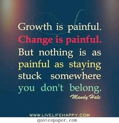 Don't be afraid of being painful